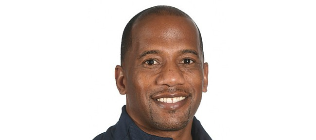 University of Kansas receivers coach Emmett Jones