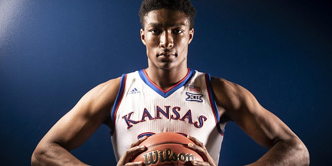 Kansas forward David McCormack pictured on Media Day, Wednesday, Oct. 10, 2018 at Allen Fieldhouse.