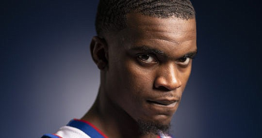 Kansas guard Lagerald Vick is pictured on Media Day, Wednesday, Oct. 10, 2018 at Allen Fieldhouse.