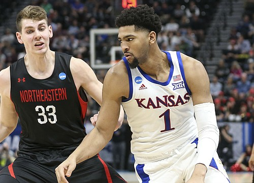 'My boys are winners': Lawson brothers carry Kansas to 87-53 win over Northeastern in NCAA Tournament