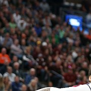Auburn forward Chuma Okeke (5) pulls in a rebound from New Mexico State forward Ivan Aurrecoechea (15) during the first half, Thursday, March 21, 2019 at Vivint Smart Homes Arena in Salt Lake City, Utah.