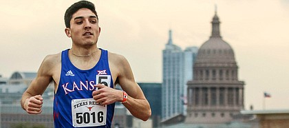 Kansas runner Bryce Hoppel became one of the country's elite performers in the 800-meter dash during his junior season.