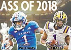 Kansas football landed eight verbal commitments over the weekend, but it wasn't unprecedented for the program. KU's 2018 recruiting class skyrocketed as high as No. 2 in Rivals' team rankings in February of 2017, after a junior day full of visitors resulted in seven highly touted prospects over the span of three days giving their nonbinding verbal pledges to the Jayhawks, at the time coached by David Beaty.