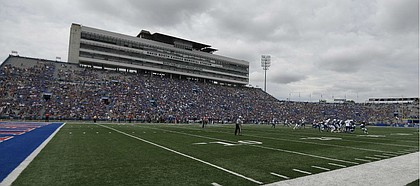 Overall view during the game against Indiana State Saturday afternoon at David Booth Kansas Memorial Stadium on Aug. 31, 2019.