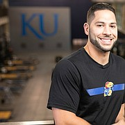 University of Kansas men's basketball director of sport performance Ramsey Nijem is pictured on Thursday, Sept. 12, 2019 at the Anderson Strength and Conditioning Center.