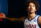 Kansas forward Jalen Wilson is pictured during Media Day on Wednesday, Oct. 9, 2019 at Allen Fieldhouse.