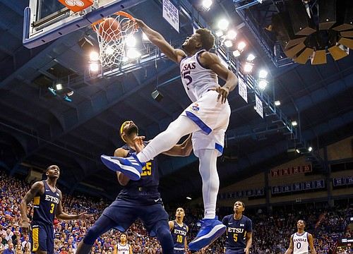 'Planet' Azubuike powers Kansas past East Tennessee State, 75-63