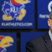 University of Kansas Athletic Director Jeff Long is pictured in this Feb. 2, 2019, file photo.