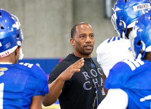 KU promotes WRs coach Emmett Jones to passing game coordinator
