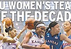 The Kansas men's basketball team of the decade. The starting five, from left: Danielle McCray, Angel Goodrich, Chelsea Gardner, Aisha Sutherland, Carolyn Davis.