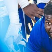 Kansas football coach Les Miles promoted former quality control staffer Chidera Uzo-Diribe, naming him KU's new outside linebackers coach on Jan. 24, 2020.