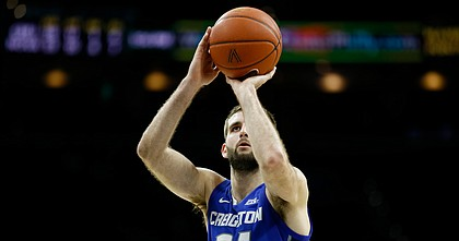 Creighton's Mitch Ballock plays during an NCAA college basketball game against Villanova, Saturday, Feb. 1, 2020, in Philadelphia.