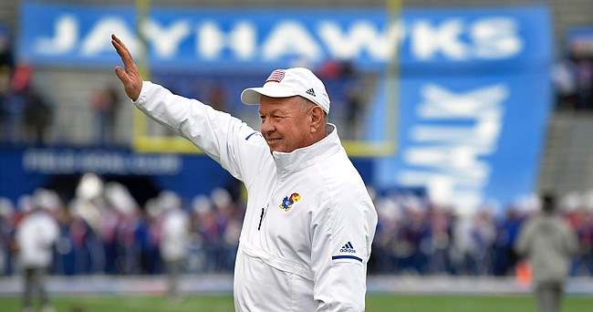Jeff Himes, longtime equipment manager for the Kansas football program, finally decided to retire during the 2020 offseason, after 32 years of working behind the scenes for the Jayhawks. Former KU head coach Glen Mason brought Himes to Lawrence from Kent State in 1988 and Himes worked for seven different head coaches before retiring.