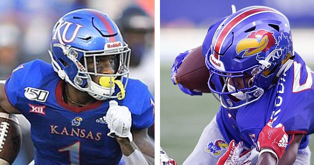 Junior running back Pooka Williams Jr., left, and senior wide receiver Stephon Robinson Jr., were recently named to the Maxwell Award and Paul Hornung Award watch lists ahead of the 2020 college football season.