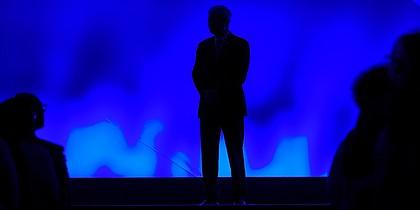NCAA President Mark Emmert speaks at the NCAA convention Thursday, Jan. 23, 2020, in Anaheim, Calif. (AP Photo/Mark J. Terrill)