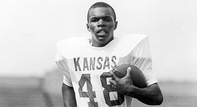 Kansas running back Gale Sayers is pictured in this file photo from 1962.