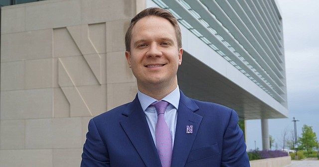 Newly named University of Kansas Athletic Director Travis Goff, is shown at his former school, Northwestern, where he served as the Wildcats' Deputy AD since 2012. Goff graduated from KU in 2002 and was hired by KU Chancellor Douglas Girod on April 5, 2021.