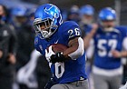 Buffalo Bulls running back Jaret Patterson (26) carries the ball during the first half of an NCAA college football game against the Akron Zips at UB stadium in Amherst, N.Y., Saturday Dec. 12, 2020. (AP/ Photo Jeffrey T. Barnes)
