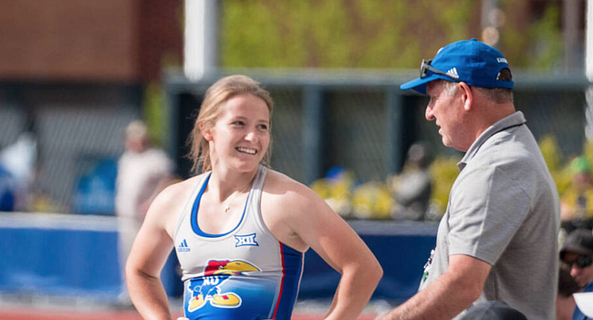 KU sophomore pole vaulter Samantha Van Hoecke finished with All-American honors in her first ever trip to the NCAA Outdoor Championships on Thursday, June 10, 2021 in Eugene, Ore.