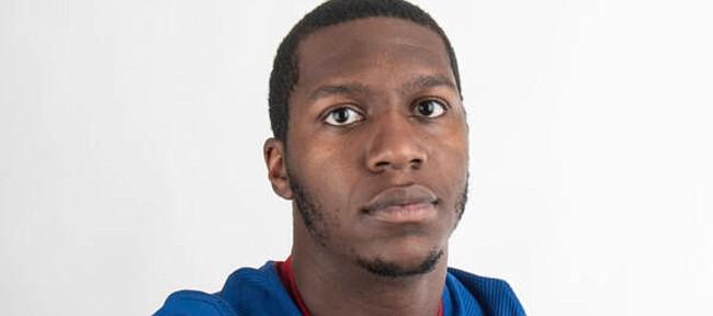 Kansas football defensive end Zion DeBose
