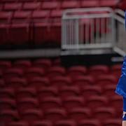 KU freshman Caroline Bien fires away for one of her season-high 16 kills during the Jayhawks' five-set win over Texas Tech in Lubbock, Texas, on Saturday, Sept. 25, 2021.