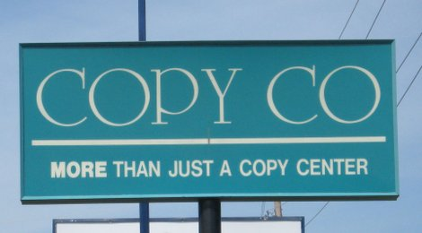 Copy Co Store Sign