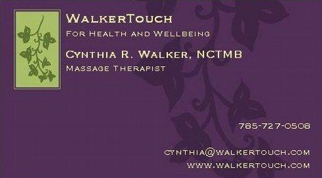 Cynthia Walker Touch Massage