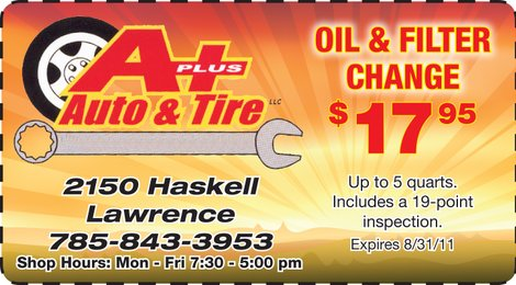 Oil and Filter Change - $17.95