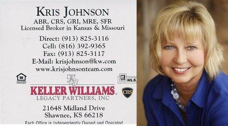 Kris Johnson, Keller Williams Legacy