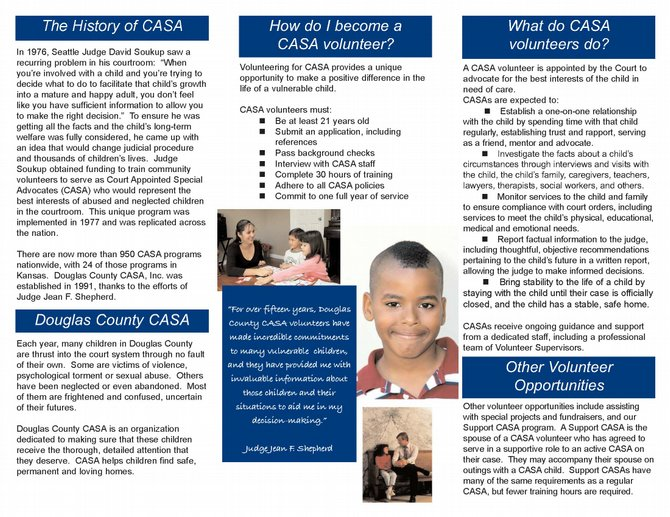 read our brochure to learn more about douglas county casa our history volunteer and more
