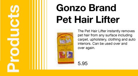 Gonzo Brand Pet Hair Lifter