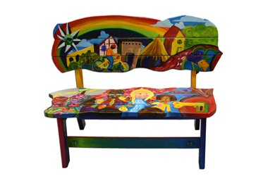 Van Go Custom Art Bench