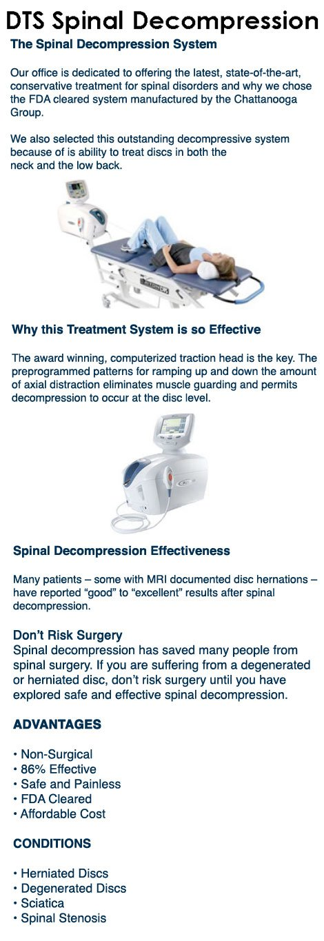 DTS Spinal Decompression