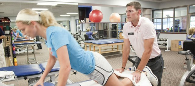 Other Side Of Injuries: Kansas University's Tyrel Reed Helps With Recovery As Physical Theapy Intern