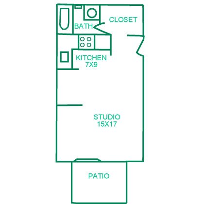 Typical studio apartment floor plan quail creek apartments 1 2 3 bedroom studio - Planning the studio apartment floor plans ...