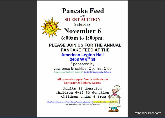 Annual PancakeFeed & Silent Auction :: F1RST Sat-AM in November