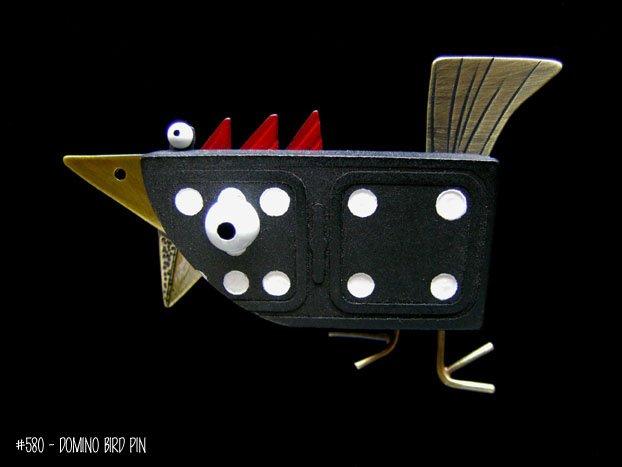 Domino Bird Pin (#580)