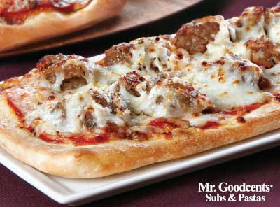 Meatball Parmesan Flatbread Pizza