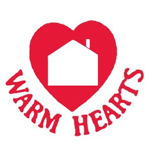How many households benefit from donations to Warm Hearts?