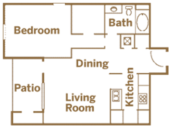 One Bedroom, One Bath - Deluxe