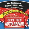 Certified Auto Repair: Nationwide Warranty on work