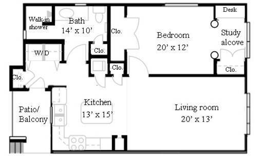 1 Bedroom, 1 Bath Luxury Apartment