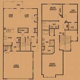 Camson Townhomes: 2 Story, 3 Bedroom