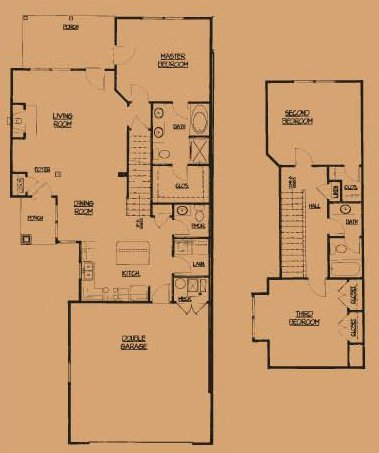 Camson Townhomes: 1-1/2 Story, 3 Bedroom Townhome