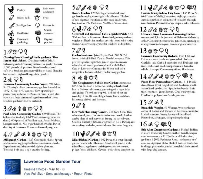 2014 Lawrence Food Garden Tour Sites