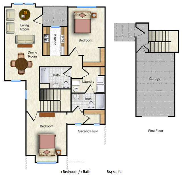 The Aspen - 1bed/1bath