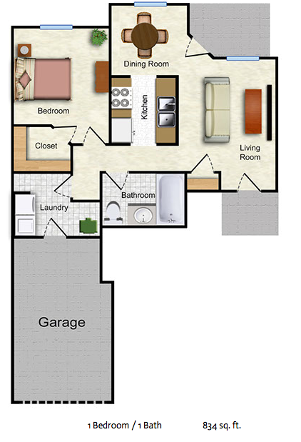 The Lilac - 1 bed/1 bath