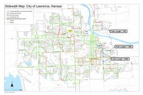 sidewalk map city of lawrence kansas ljworld