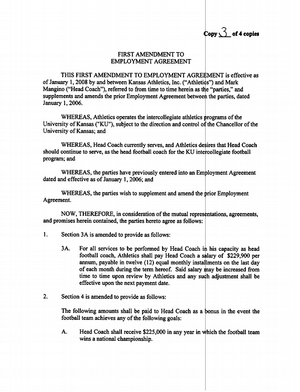 football contract template - investigation of mangino launched after player complains