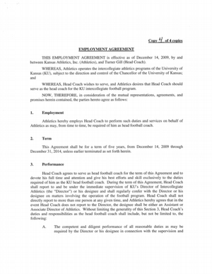 relationship agreement a contract for lovers pdf Contract favors Turner Gill | KUsports.com